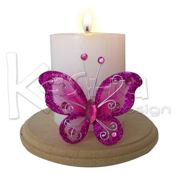 Kashu design vela decorada con mariposa - Velas de navidad decoradas ...
