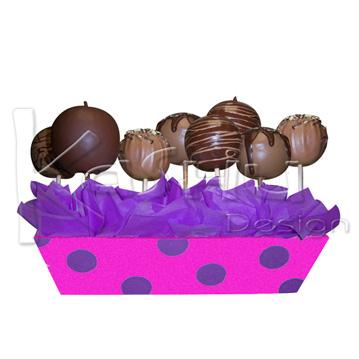 Decorar manzanas cubiertas chocolate